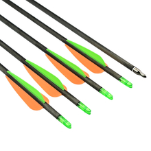 "Wholesale hunting shooting 30"" Archery carbon arrows with 3"" plastic vane price for sale"